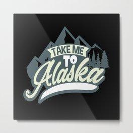 Alaska Nature Metal Print