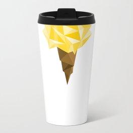 Ice Cream/Yellow Metal Travel Mug