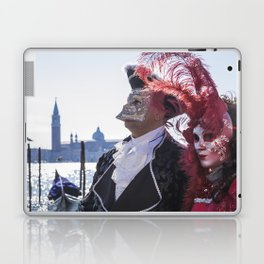 Couple of carnival masks in Venice Laptop & iPad Skin