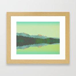 Lake Morning - Green Framed Art Print