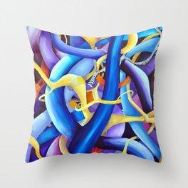 The dynamics of a disagreement Throw Pillow
