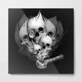 Faded Youth, smoke skulls Metal Print