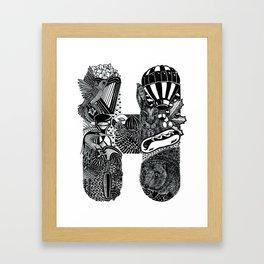 Letter H Framed Art Print