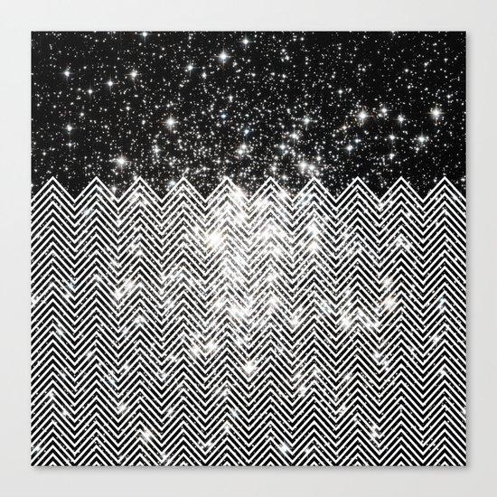 Chevron Universe Canvas Print