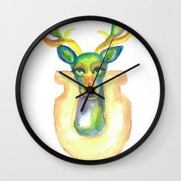 Rainbow Deer Wall Clock