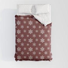 Christmas snow pattern Comforters