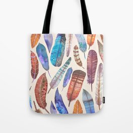 Floating Feathers Tote Bag
