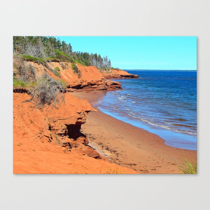 Red Cliffs of PEI Canvas Print