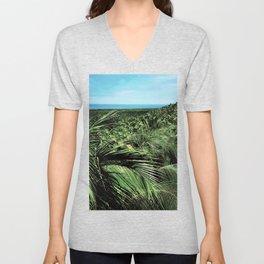 Nature palm design Unisex V-Neck