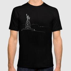New York by Friztin Black Mens Fitted Tee MEDIUM