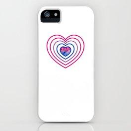 Gay Pride LGBT Bisexual Bi Heart Rainbow design iPhone Case