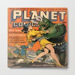 PLANET comic 1 Metal Print