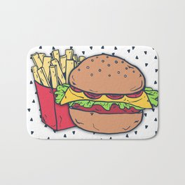 Hamburger and Fries Bath Mat