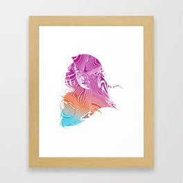 Psychedelic Woman Framed Art Print