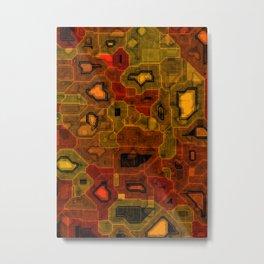 Coloured circuitry Metal Print