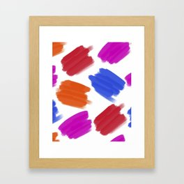 Colored Stains Pattern Framed Art Print