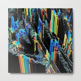 Abstract 3d blender colorful Metal Print