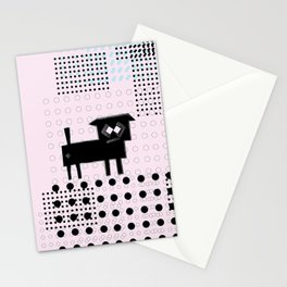 ODD MIKEY Stuff - Doggy with Pink eyes Stationery Cards