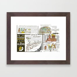 Ancient Aliens Framed Art Print
