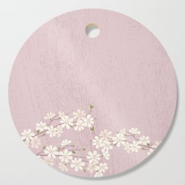 Pink Blossom Cutting Board