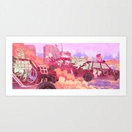 Plant Caravan Art Print