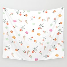 ROSES & MACARONS Wall Tapestry