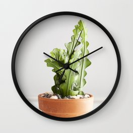 Ric Rac Cactus  |  The Houseplant Collection Wall Clock