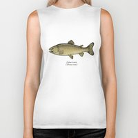 trout Biker Tanks featuring Brown trout by Eugenia Hauss