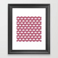 Elephants in love (Plum) Framed Art Print