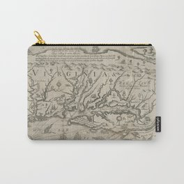 Vintage Map of Virginia (1651) Carry-All Pouch
