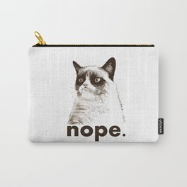 NOPE - Grumpy cat. Carry-All Pouch