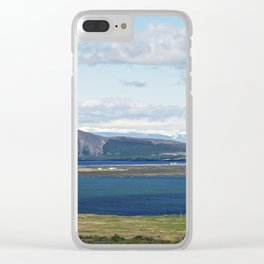 Iceland morning seascape Clear iPhone Case