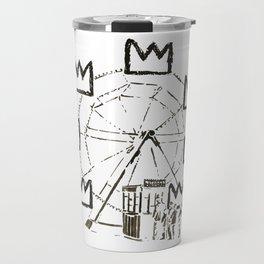 Ferris Wheel, Banksy Pays Tribute To Jean-Michel Basquiat, Artwork, Tshirts, Posters, Bags, Prints, Travel Mug