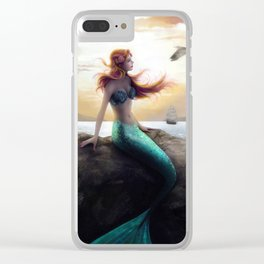 Dreaming of land Clear iPhone Case