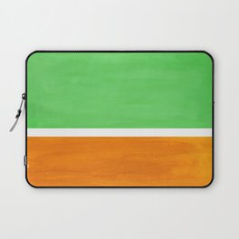 Pastel Mint Green Yellow Ochre Rothko Minimalist Mid Century Abstract Color Field Squares Laptop Sleeve
