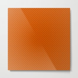 Mango Orange Scales Pattern Metal Print