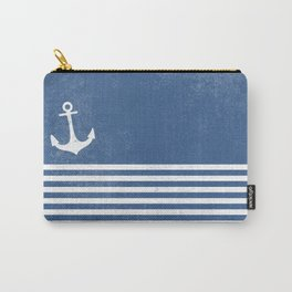 Anchor with stripes blue and white for the regatta Carry-All Pouch