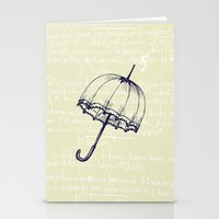 umbrella Stationery Cards featuring Umbrella by Mr and Mrs Quirynen