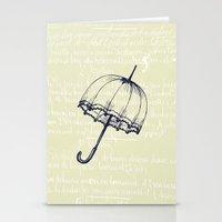 umbrella Stationery Cards featuring Umbrella by Mr & Mrs Quirynen