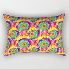 Rainbow Tie Dye Retro Style Colorful Art Artist  Rectangular Pillow