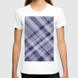 blue and white picnic T-shirt