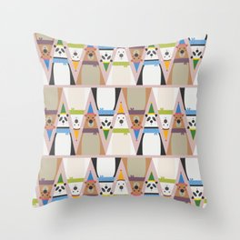 A Sleuth of Bears (Patterns Please) Throw Pillow
