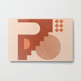 Abstraction_Bohemian_Architecture_ART_Minimalism_001 Metal Print