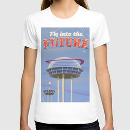 Fly to the Future retro poster T-shirt
