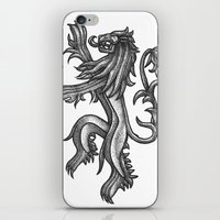 lannister iPhone & iPod Skins featuring A Lannister Always Pays His Debts by Michael Wybrow