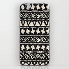Vintage white black geometrical aztec tribal iPhone Skin