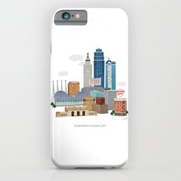 Kansas City Skyline iPhone Case