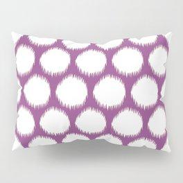 Plum Asian Moods Ikat Dots Pillow Sham