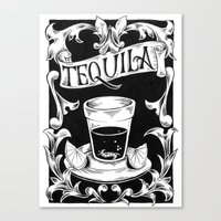 tequila Canvas Prints featuring tequila by Caetano Calomino
