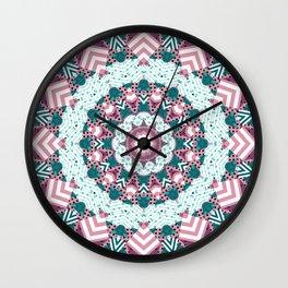 Rustic patchwork 2 Wall Clock